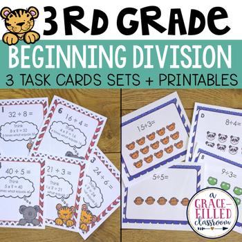 Third Grade Division: 3 Task Card Sets