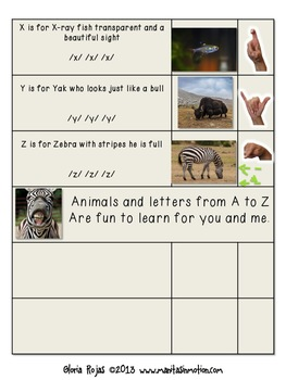 Zoo Animals A-Z Chant
