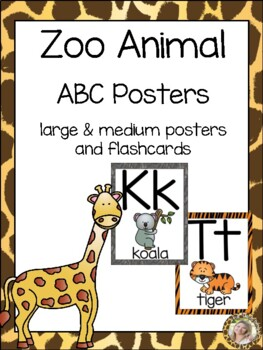 Zoo Animals ABC Posters - Large, Small & Flashcards {Jungle Safari Theme}
