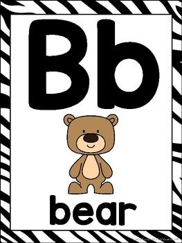Zoo Animals ABC Posters - Large, Small & Flashcards {Jungle Safari Theme}