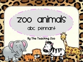 Zoo Animals ABC Word Wall Pennant Banner {Jungle Safari Theme}