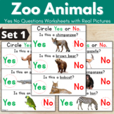 Zoo Animals Activity - Yes No Questions {50% OFF}