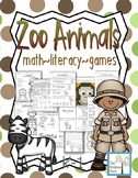 Zoo Animals Activity Set K-1 Math Literacy Games Puzzles C