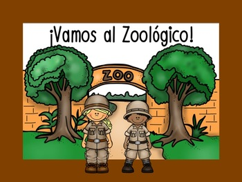 Zoo Animals Activity Set and Song -Mp3 {Spanish}