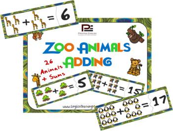 Zoo Animals Adding | Fun Classroom/Math Game