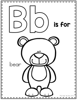 Zoo Animals Alphabet Coloring Pages