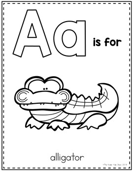 Zoo Animals Alphabet Coloring Pages By The Kinder Kids Tpt