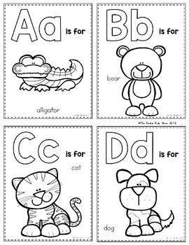 Zoo Animals Alphabet Flash Cards