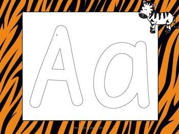 Zoo Animals Alphabet Play Dough Mats - A to Z