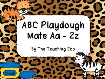 Zoo Animals Alphabet Play Dough Mats - A to Z