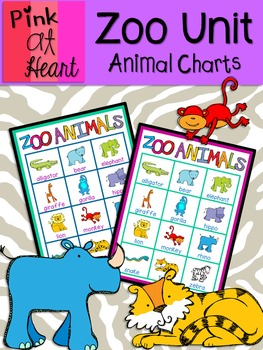 Zoo Unit - Animal Charts