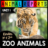 Zoo Animals - Animal Research Reports - Kindergarten and First Grade Non-Fiction