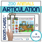 Zoo Animals Articulation Boom Cards™️ All Sounds | Speech Therapy