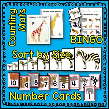 Zoo Animal BIG Math Center BUNDLE