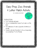 Zoo Animals Beginning Letter Match
