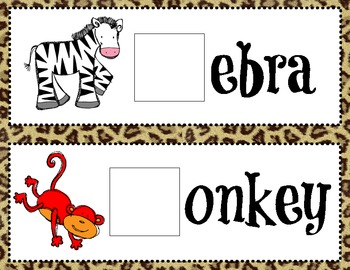 Zoo animals beginning sound game cards by elena ortiz tpt zoo animals beginning sound game cards toneelgroepblik Image collections