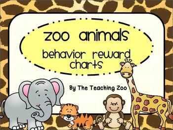 Zoo Animals Behavior Reward Charts {Jungle Safari Theme}