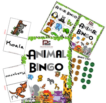 Zoo Animals Bingo | Fun Classroom Game