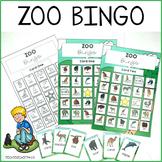 Zoo Animals Bingo Game