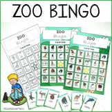Zoo Animals Bingo Game