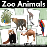 Zoo Animals and Birds Vocabulary Cards for Special Education, ESL