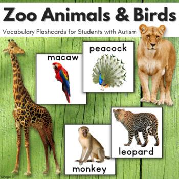 Zoo Animals Vocabulary Cards, Pecs