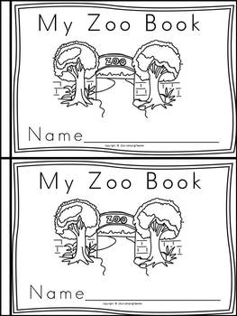 Zoo Animals Book for Kindergarten and 1st Grade {Block Print Style}