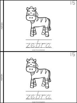 Zoo Animals Book for Kindergarten and 1st Grade {D'Nealian Style}