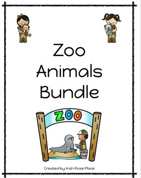 Zoo Animals Bundle with Adapted Books