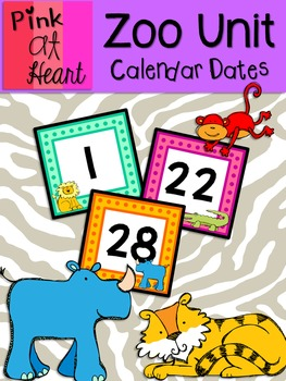 Zoo Unit - Calendar Dates