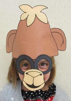 Zoo Animals Camel Sentence Strip Hat Mask