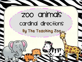 Zoo Animals Cardinal Directions Signs {Jungle Safari Theme}