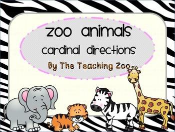 Zoo Animals Cardinal Directions Signs {Jungle Safari Theme}