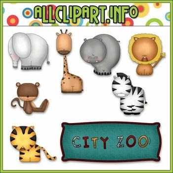 BUNDLED SET - Zoo Animals Clip Art & Digital Stamp Bundle