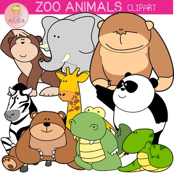 Zoo Animals Clip Art
