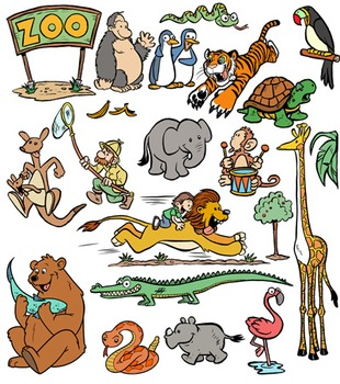 Zoo Animals Clip Art! 44 PNG Images for Commercial Use