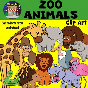 Zoo Animals Clip Art Bundle