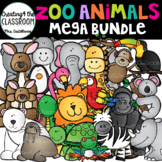 Zoo Animals Clip Art Bundle {Animals Clip Art}