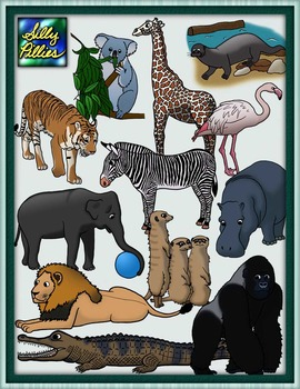 Zoo Animals Clip Art Pack