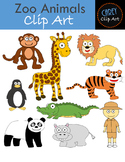 Zoo Animals {Clip Art + Board Game}