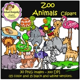 Zoo Animals Clip Art (School Designhcf)