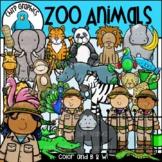 Zoo Animals Clip Art Set - Chirp Graphics