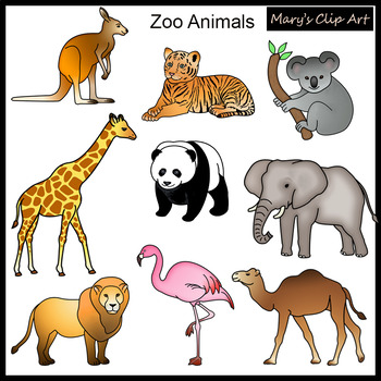 zoo animals clipart by mary turcotte teachers pay teachers rh teacherspayteachers com zoo animal clipart free zoo animal clip art printables free