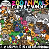 Zoo Animals Clipart Bundle {Animals A-Z Clipart}