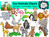 Zoo Animals Clipart Bundle - 50 images!  Personal or Commercial Use