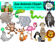 Zoo Animals Clipart Bundle - 50 images!  Personal or Comme