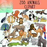 Zoo Animals Clipart - Color and Blackline Huge 54 Mega pc set