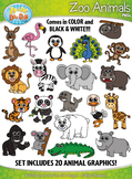 Zoo Animals Clipart {Zip-A-Dee-Doo-Dah Designs}