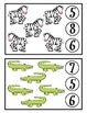 Zoo Animals Clothespin Counting Game