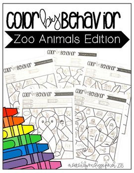 Zoo Animals - Color By Behavior